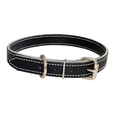 1 Inch Amish Made Leather Dog Collar -