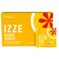 IZZE Bursts Organic Fruit Snacks, Mango, 0.8 oz Pouches, 18 Count