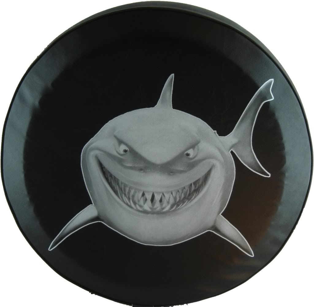 """SpareCover ABC Series - Great White Shark 27"""" Tire Cover"""