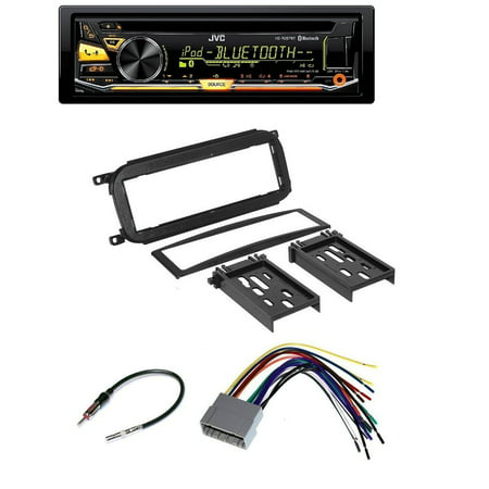 Audi Harness - Chrysler Jeep Dodge Car Audio Radio Installation Dash Kit + Harness + Antenna And JVC KD-RD97BT CD/MP3/WMA Player W/ Bluetooth iHeart Radio Pandora Front USB AUX