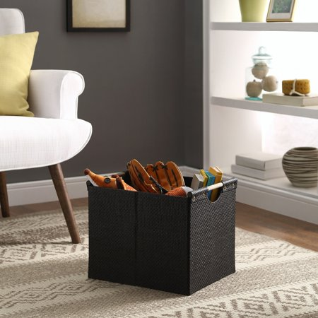 Better Homes & Gardens Black Weave Storage Bin with Wood Handle's ()
