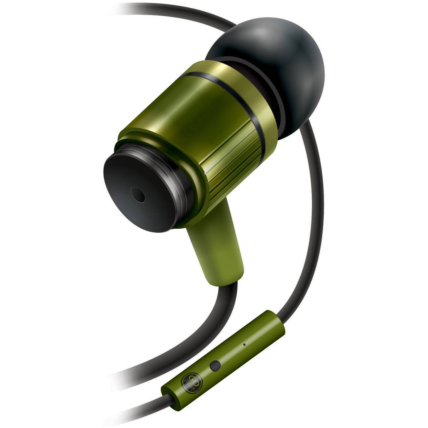 GOgroove AudiOHM RNF Army Green Ergonomic Headphones with Lifetime Warranty With Enhanced Bass and Metal Driver Housing