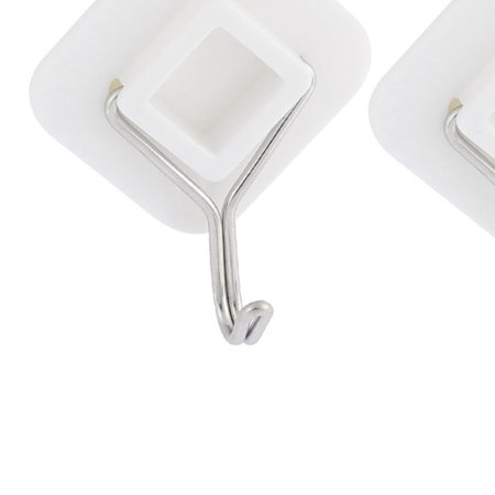 Uxcell 2pcs Bedroom Bathroom Clothes Towel Hooks Hanging Adhesive Wall