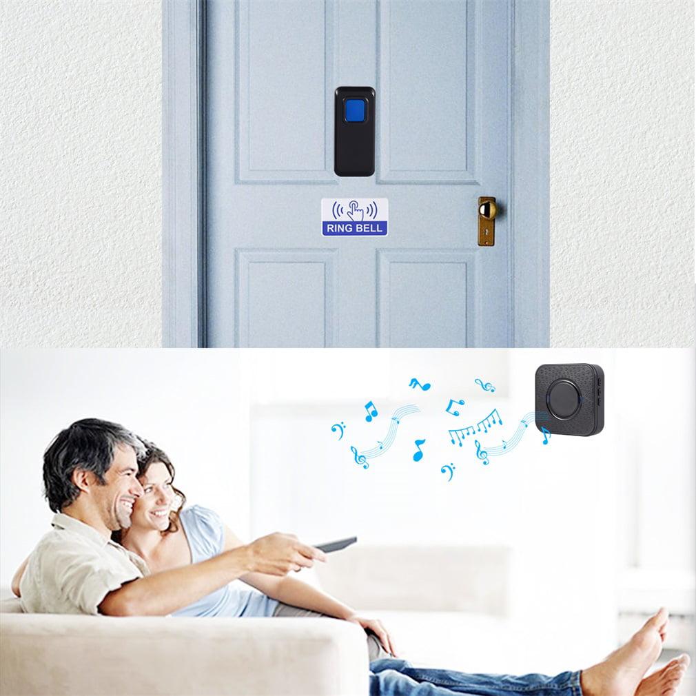 Door Bell US/EU/UK Plug Receiver Waterproof Plug-in Type Wireless Doorbell