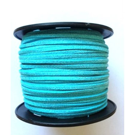 Faux Leather Suede Beading Cord, Metallic Turquoise (10 feet)