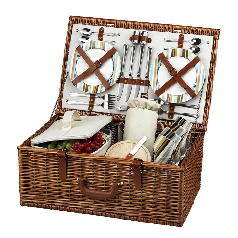 Dorset Santa Cruz Picnic Basket for Four