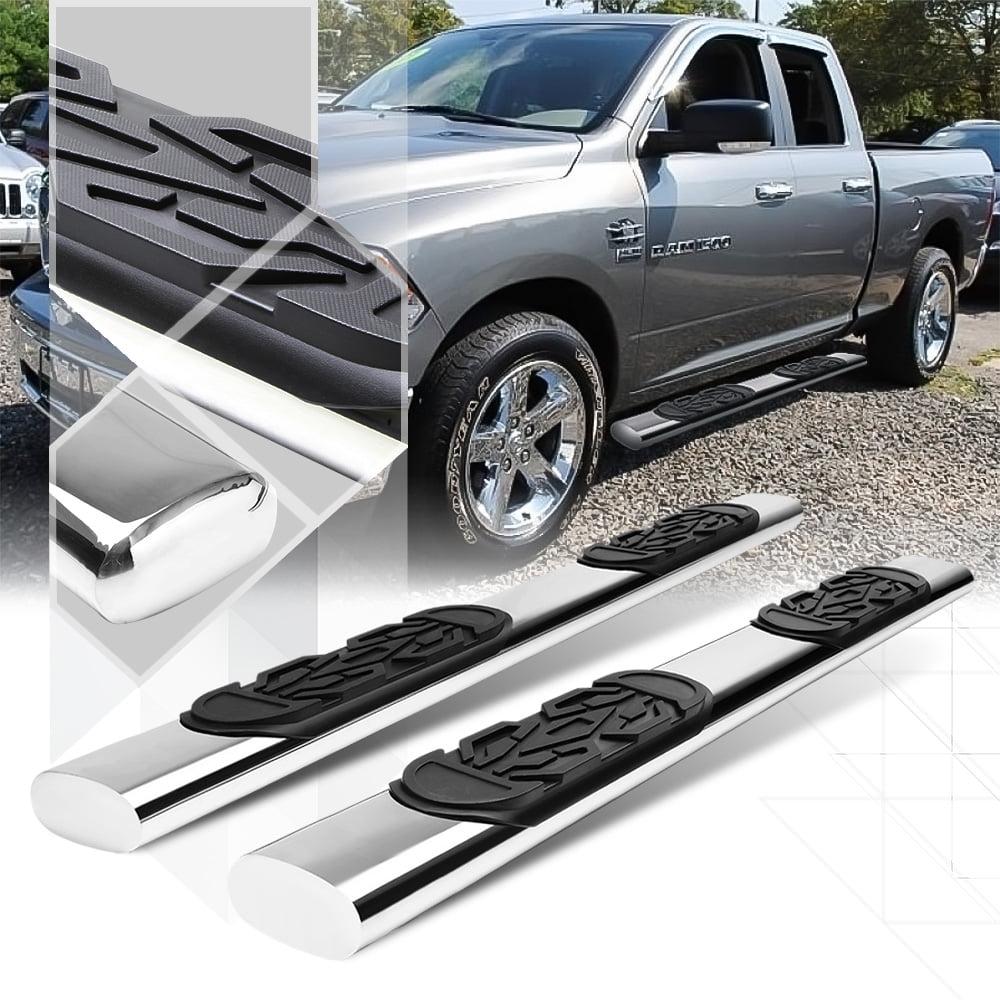 """Chrome 6"""" Oval Side Step Nerf Bar for 09-15 Ram 1500/2500/3500 Ext Quad Cab 4Dr 10 11 12 13 14"""