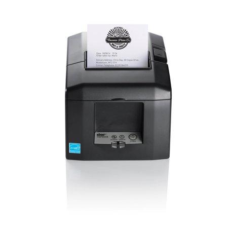"Star Micronics 39449771 Star Micronics TSP654IIE3-24 GRY Direct Thermal Printer - Monochrome - Desktop, Wall Mount - Receipt Print - 3.15"" Print Width - 11.81 in/s Mono - 203"