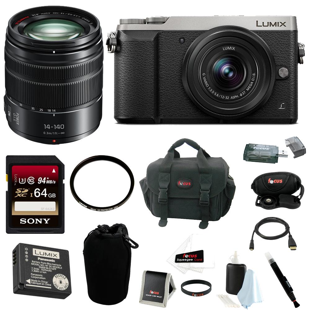 Panasonic LUMIX GX85 4K Mirrorless w  12-32mm kit +LUMIX H-FS14140AK, 14-140mm by Panasonic