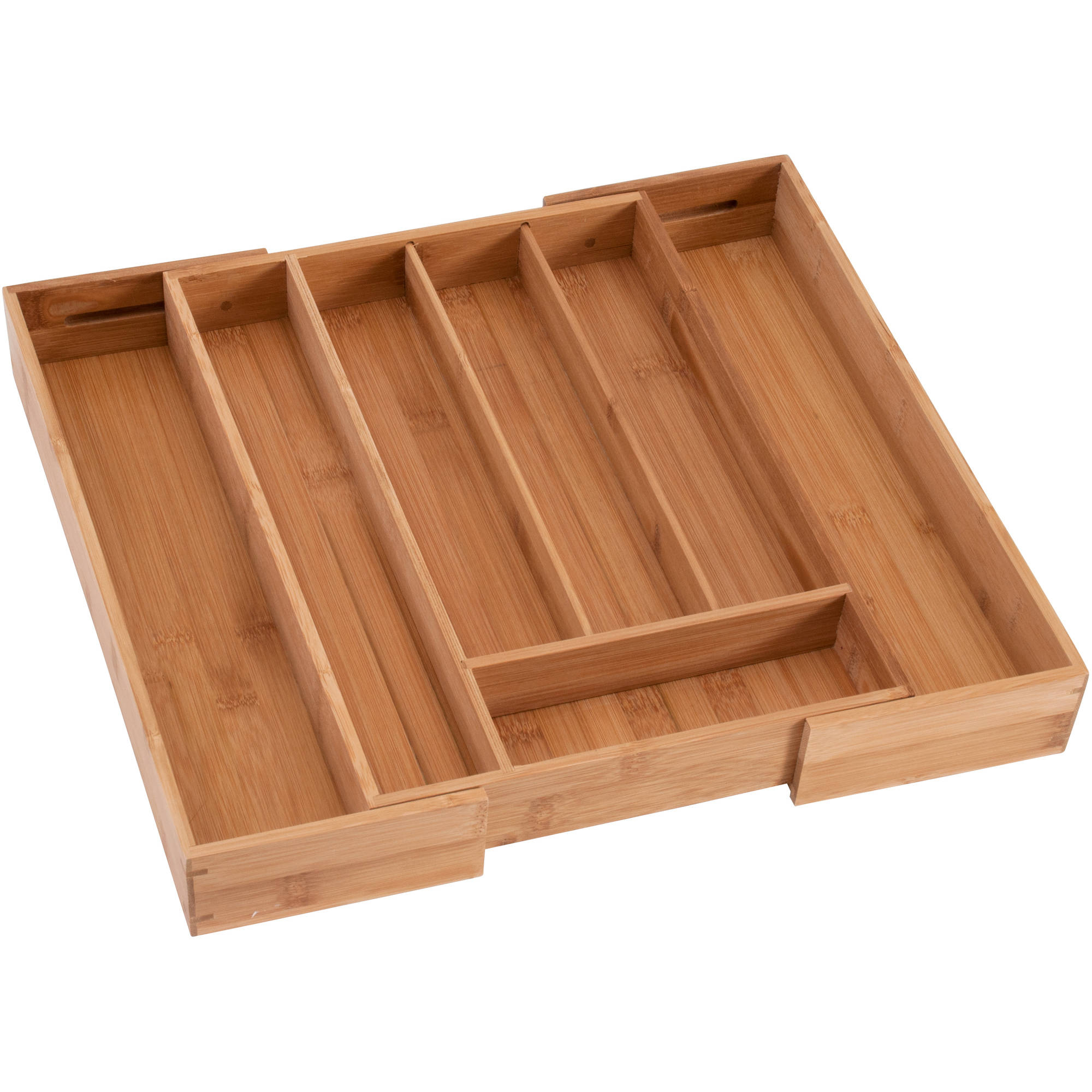 Better Homes and Gardens Anchor Hocking Bamboo Expandable Cutlery Tray