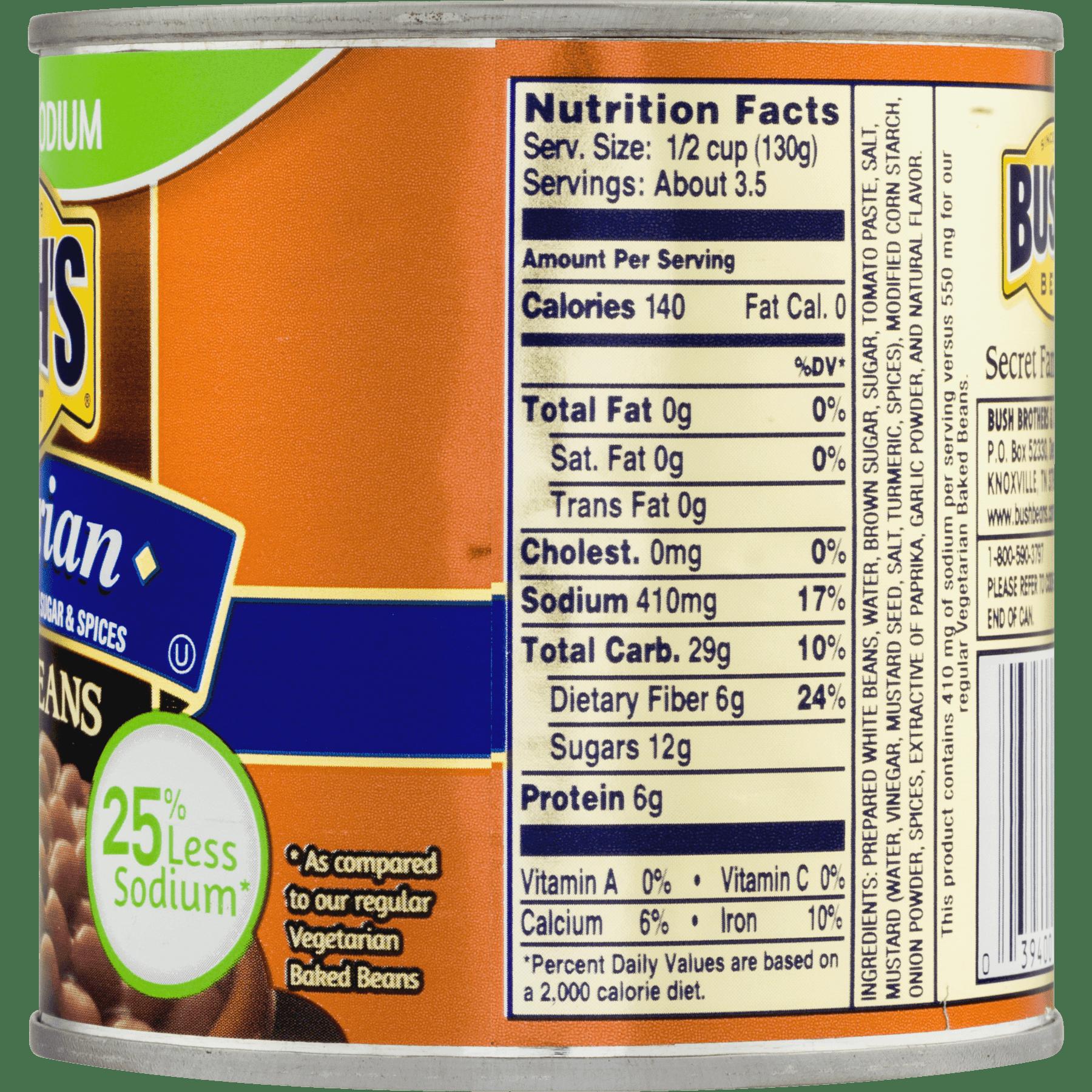 Baked Beans Nutrition Label - Labels