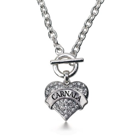 Carnala   Sister Pave Heart Toggle Necklace