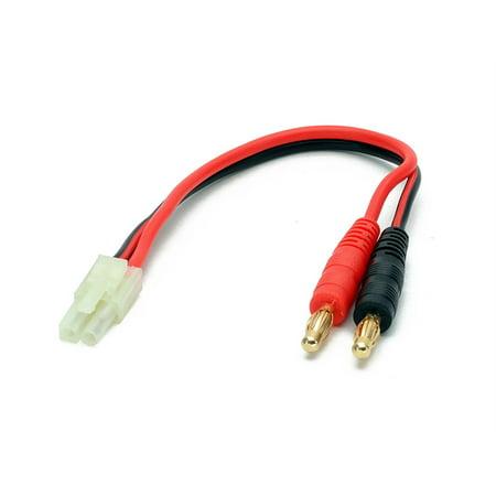 Bullet Air - Battery Charger Charging Cable: AIRSOFT Male (Tamiya Mini) to 4mm Bullet Banana Plugs