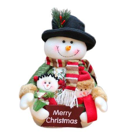 Gobestart Decoration Home Party Snowman Christmas Family portrait Ornaments ()