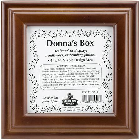"""Mahogany Donna's Square Box 6""""X6""""X2.75""""-Design Area 4""""X4"""" - image 1 of 1"""