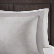 Madison Park Sarasota All Season Microcell Down Alternative Box Quilted comforter Mini Set, King/cal King, grey - image 2 of 4