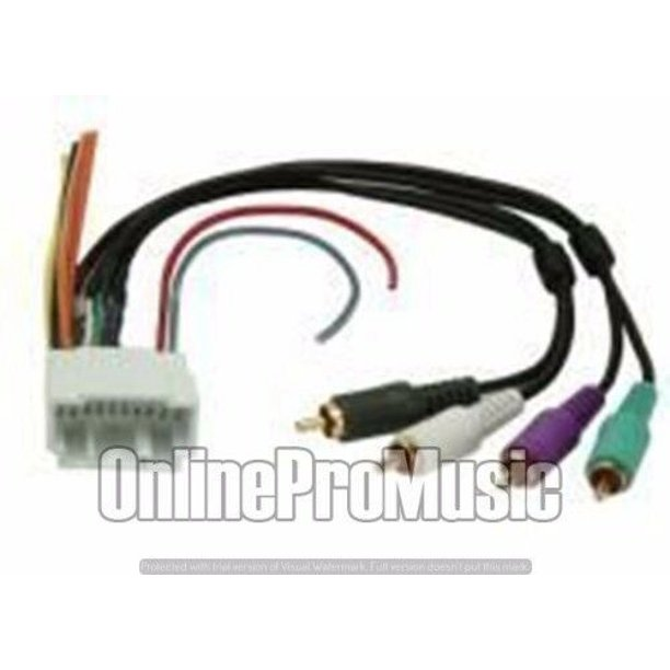 Metra 70-1725 2002-2006 Acura Rsx Amp By-pass Harness + Cd