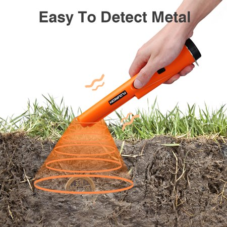 Pinpointing Probe Metal Detector, IP66 Water Resistant, Treasure Hunting Tool Buzzer Vibration with Sound Portable Pin Pointer with LED Indicators and Belt Holster Hand-Held Pinpointer, Mens (Best None Leg Holsters)