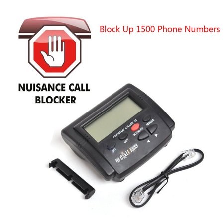 LCD Display Call Blocker for Landline Home Phones with 1500 Capacity,Block  All Spam Calls,Hidden Calls,Area Spam Calls