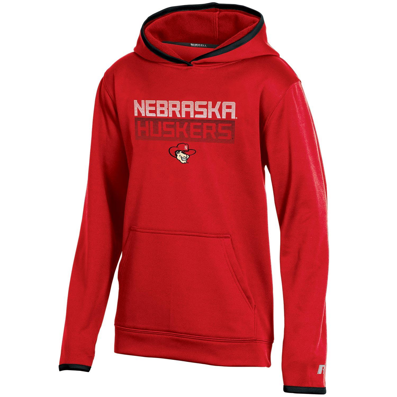 Youth Russell Scarlet Nebraska Cornhuskers Pullover Hoodie