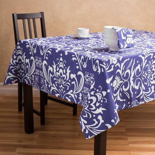 Linen Tablecloth Vintage Royalty Rectangular Cotton Tablecloth
