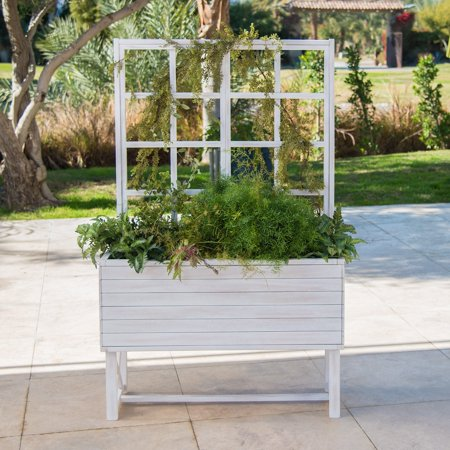 Brighton Garden (Belham Living Brighton Beach Wood Planter with Trellis - 36L x 14D x 58H )