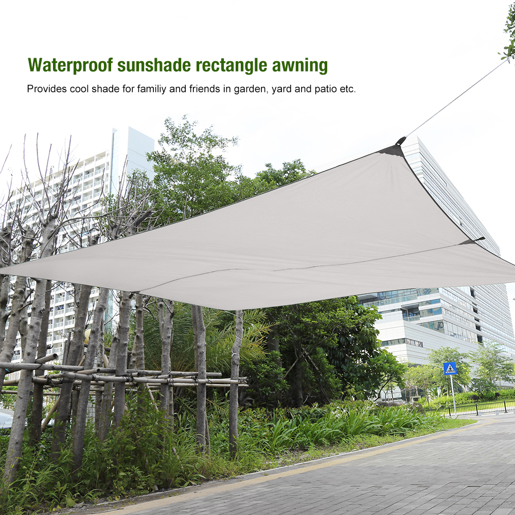 Dilwe New Sand Sun Shade Sail Sunscreen Rectangle Polyester Awning Canopy Outdoor Garden Patio 3*4m  Patio Canopy Garden Awning - Walmart.com : sun canopy for garden - afamca.org