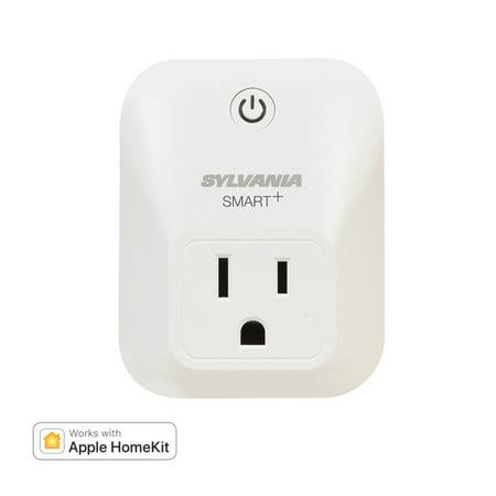 Sylvania SMART+ Bluetooth Smart Outlet, Apple HomeKit Compatible