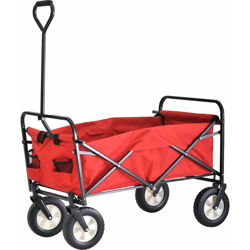 Sandusky Light-Duty Folding Wagon with Solid Steel Frame Red, FCW3622
