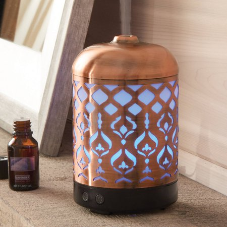 Better homes gardens antique copper tabriz 100 ml cool mist ultrasonic aroma diffuser Better homes and gardens diffuser