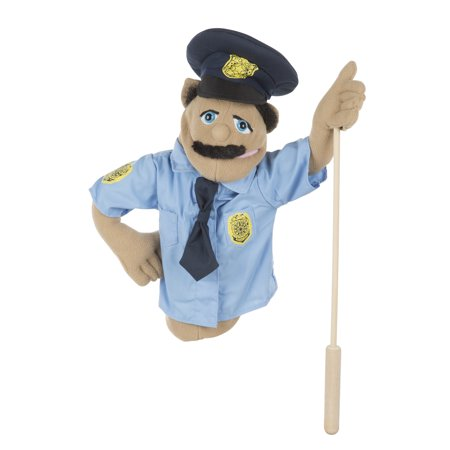 Melissa & Doug Police Officer Puppet With Detachable Wooden Rod for Animated - Giraffe Puppet