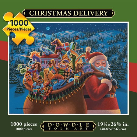 Jigsaw Puzzle - Christmas Delivery 1000 Pc By, THE SEASONS COLLECTION. From Halloween to Thanksgiving to Christmas, enjoy the festivities of the holidays as you put.., By Dowdle Folk Art Ship from US