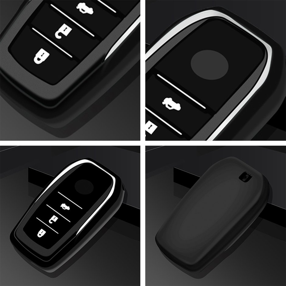 3 Buttons Remote Key Cover Case For Toyota For Tacoma Car Key Protective Cover