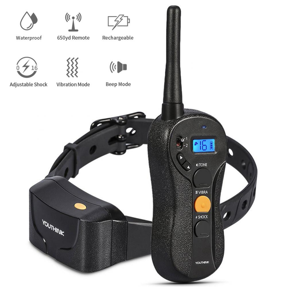 Lv. life Rechargeable Electric Dog Shock Collar Remote Anti Bark Control Training Stop Barking Trainer, Anti Bark Collar