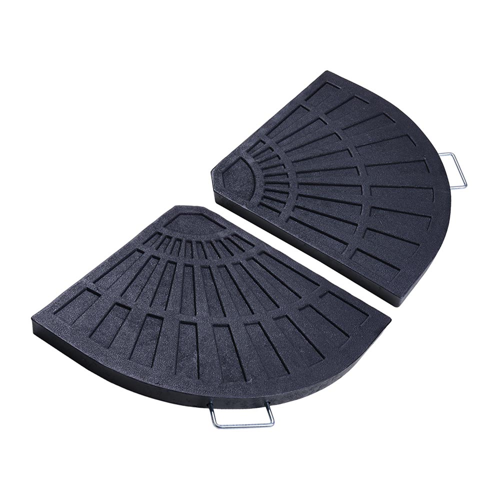"Yescom 26.5 lbs 19"" Fan Shaped Resin Beton Base Stand Weight Black for Outdoor Patio Offset Umbrella"