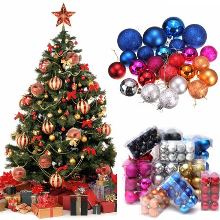 40/60mm Christmas Tree Decoration Bauble Ball Hanging Christmas Party Ornament