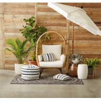 Better Homes and Gardens Ventura Boho Stationary Wicker Egg Chair