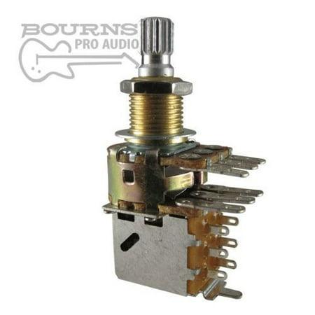 - Dual Mini Guitar Potentiometer w/ Push Pull Switch, 500K Audio, Knurled Split Shaft By Bourns