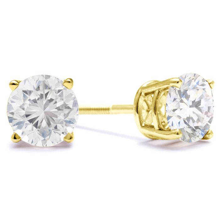 SuperJeweler 2ct Fine Quality Diamond Stud Earrings In 14...
