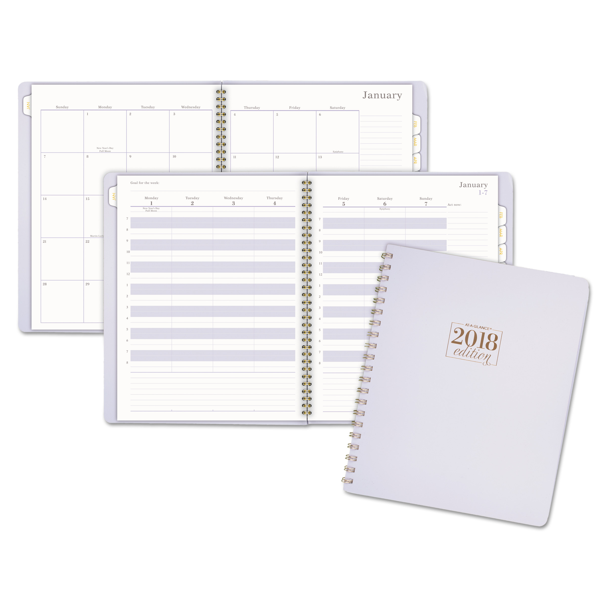 2018 weekly appointment book
