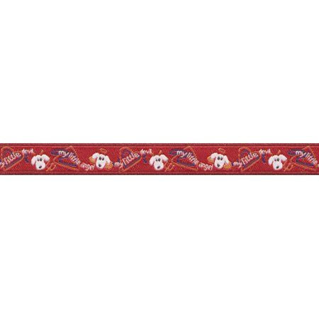 3/8 Inch Red Angel/Devil Jacquard Ribbon Closeout](Halloween Angel And Devil Dress Up Games)