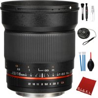 Rokinon 16mm f/2.0 ED AS UMC CS Lens for Canon EF-S Mount with Essential Accessories