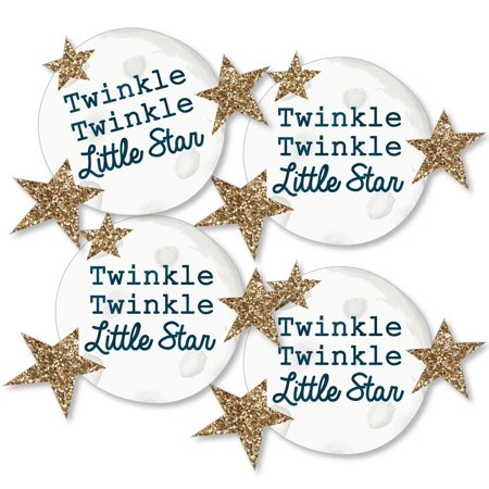 Baby Shower Moon And Stars Theme (Twinkle Little Star - Moon and Star Decorations DIY Baby Shower or Birthday Party Essentials - Set of)