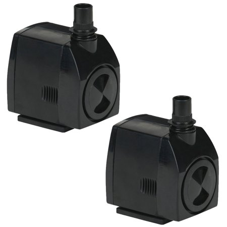 Little Giant 300 GPH 23W Magnetic Drive Submersible Fountain Pond Pump (2 Pack) 75 Gph Magnetic Drive