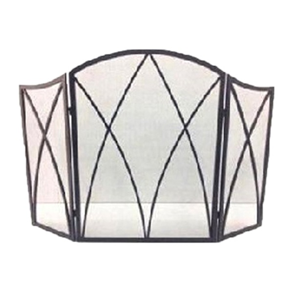 Panacea Products 15193 Fireplace Screen, Gothic Black Steel, 32 x 48-In.