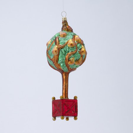 7   David Strand Designs Glass Partridge In A Pear Tree Christmas Ornament