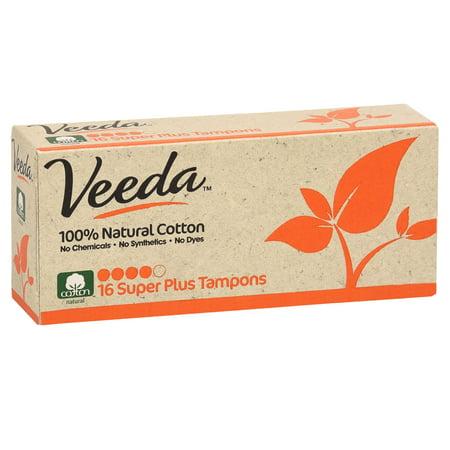 Veeda Applicator Free Tampons Super Plus, 16 Ct