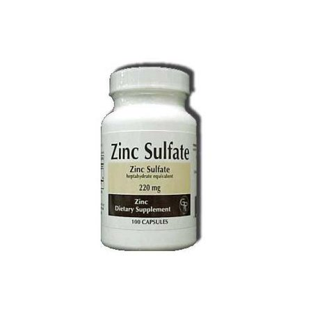 Rising Pharm Zinc Sulfate Capsules 220mg 100 Count Each