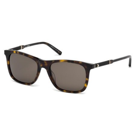 Montblanc MB606S 52E Mens Havana/Gold 54 mm Sunglasses