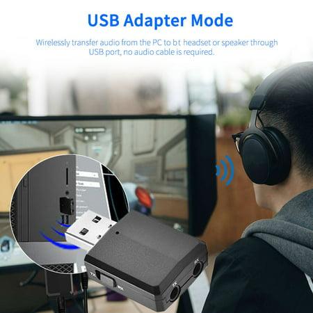 BT 5.0 Adaptateur audio sans fil Récepteur Émetteur 3,5 mm Musique AUX Voiture - image 6 of 7